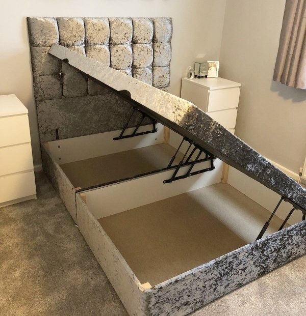 milan ottoman side lifting the luxury bed company. Black Bedroom Furniture Sets. Home Design Ideas